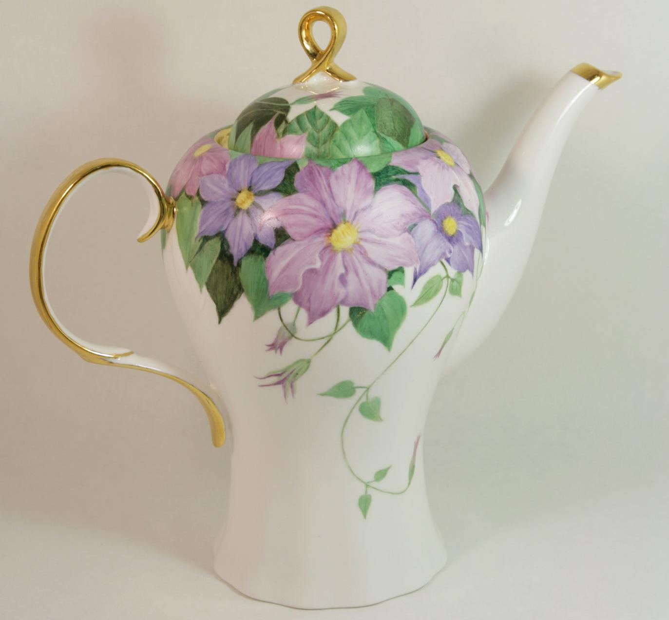 Чайник в виде хризантемы