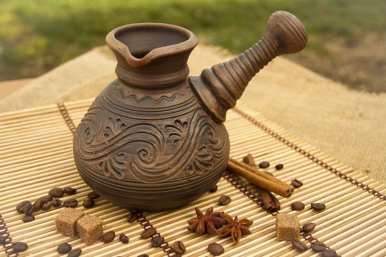 Глиняная турка для кофе