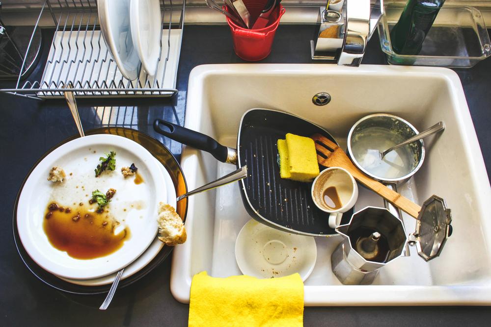 Фото грязной посуды