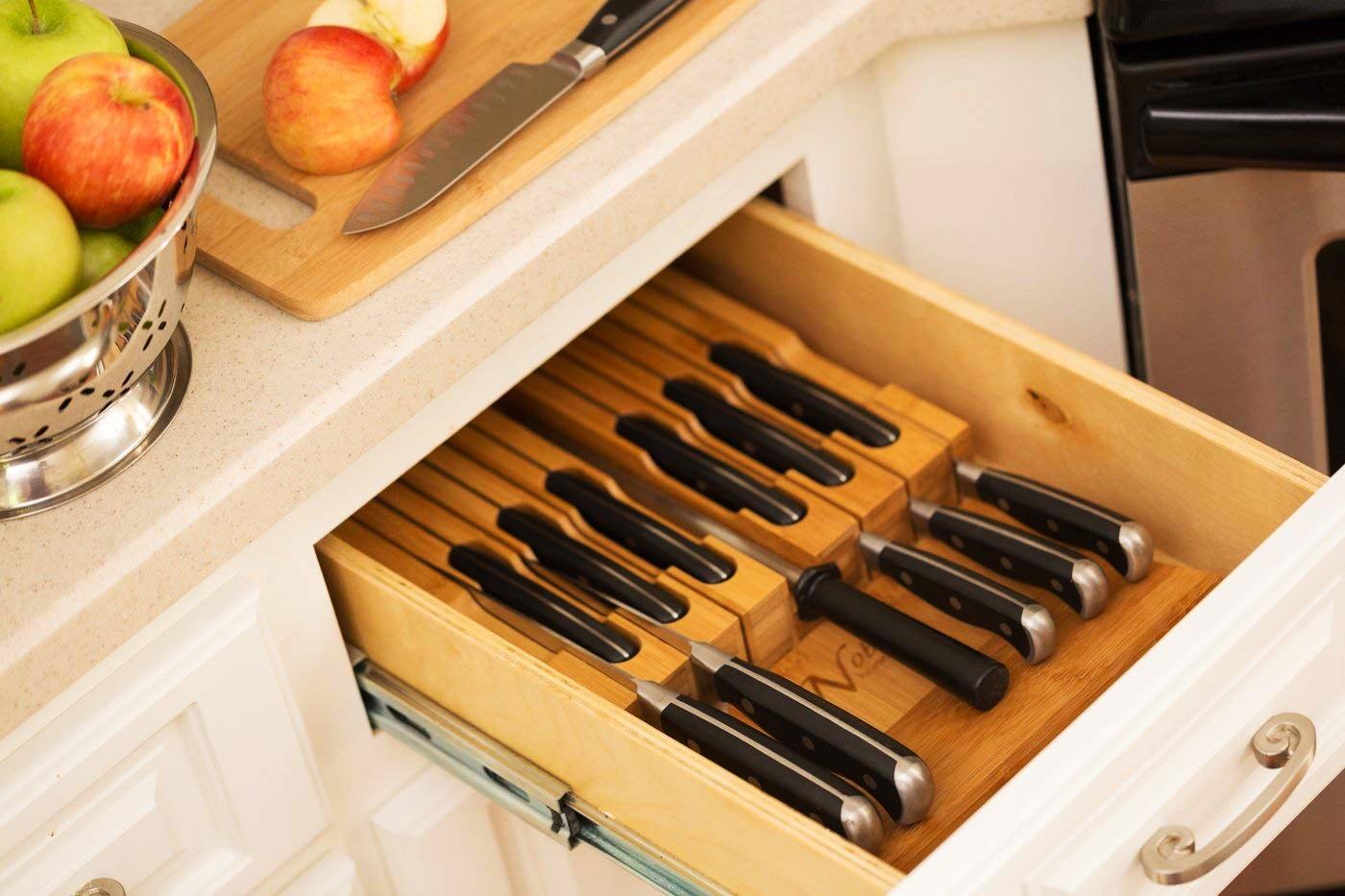 Хранение ножей в ящике