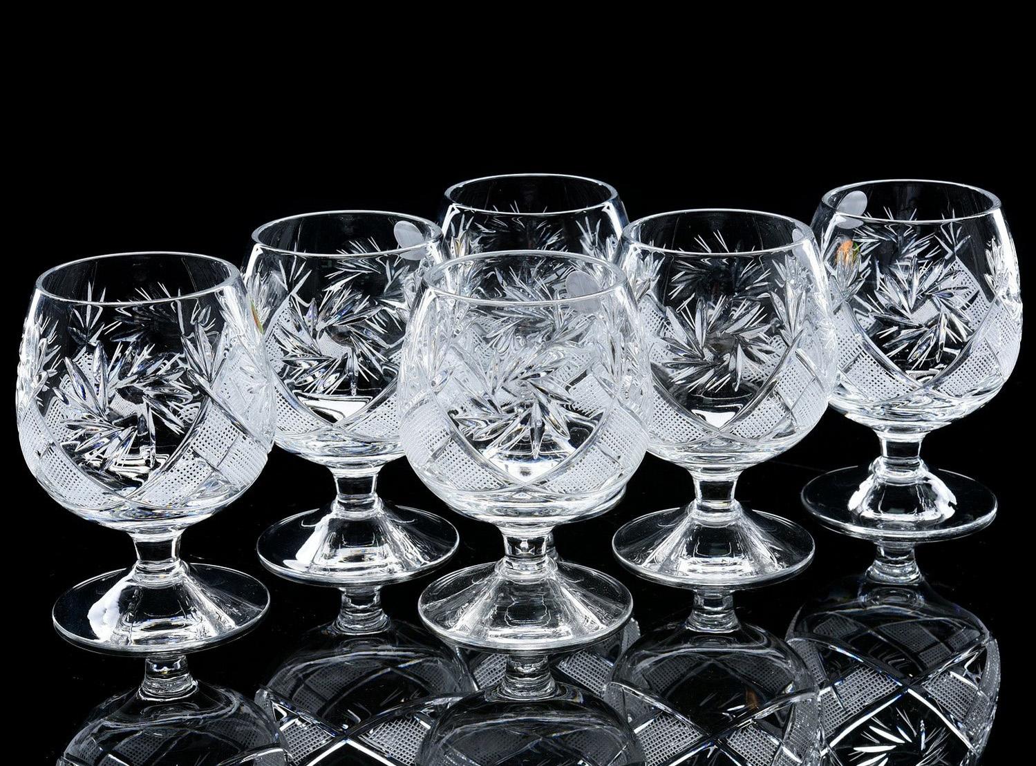 Хрустальные бокалы для коньяка