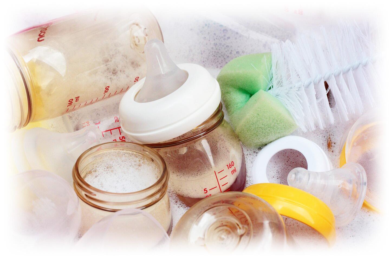 Мытье сосок и бутылочек