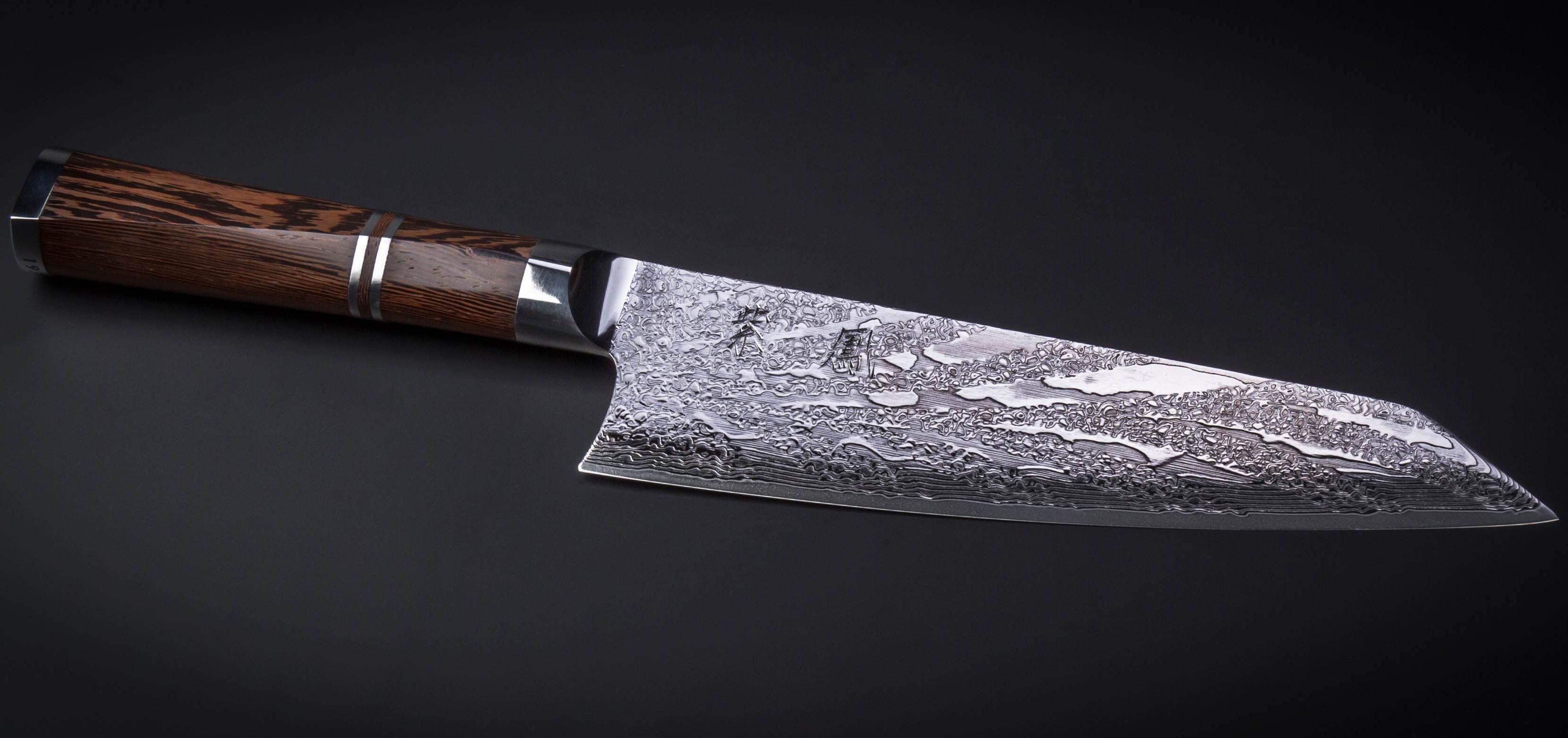 Ножи Сантоку из дамасской стали