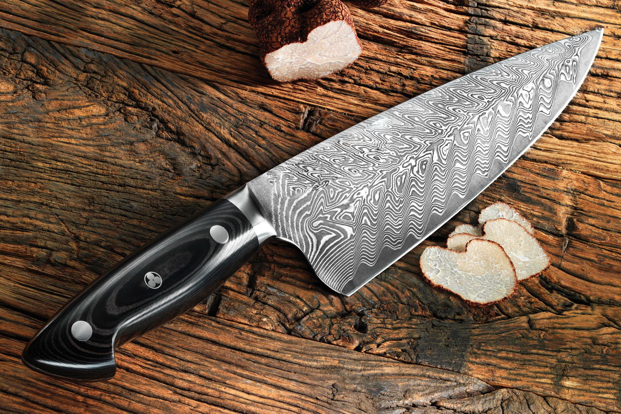 Фото ножа из дамасской стали