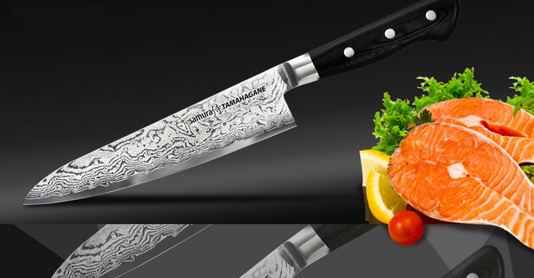 Нож из мозаичной стали