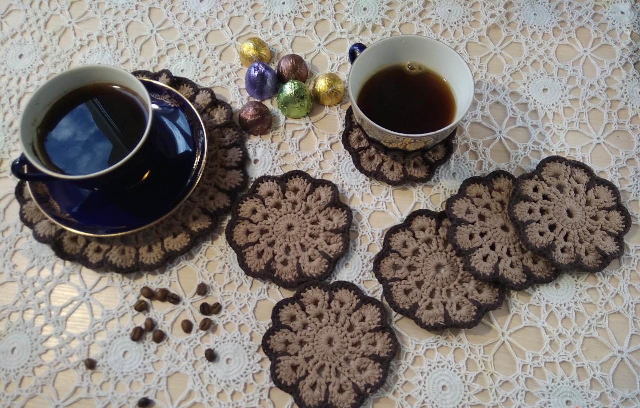 Подставки под чашки из текстиля