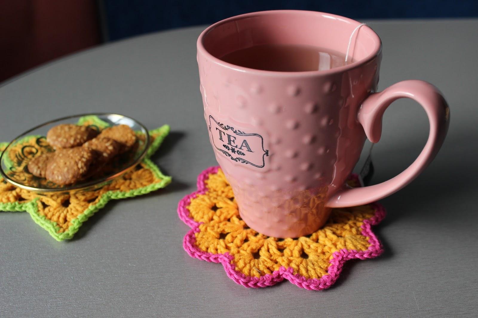 Текстильные подставки под чашки