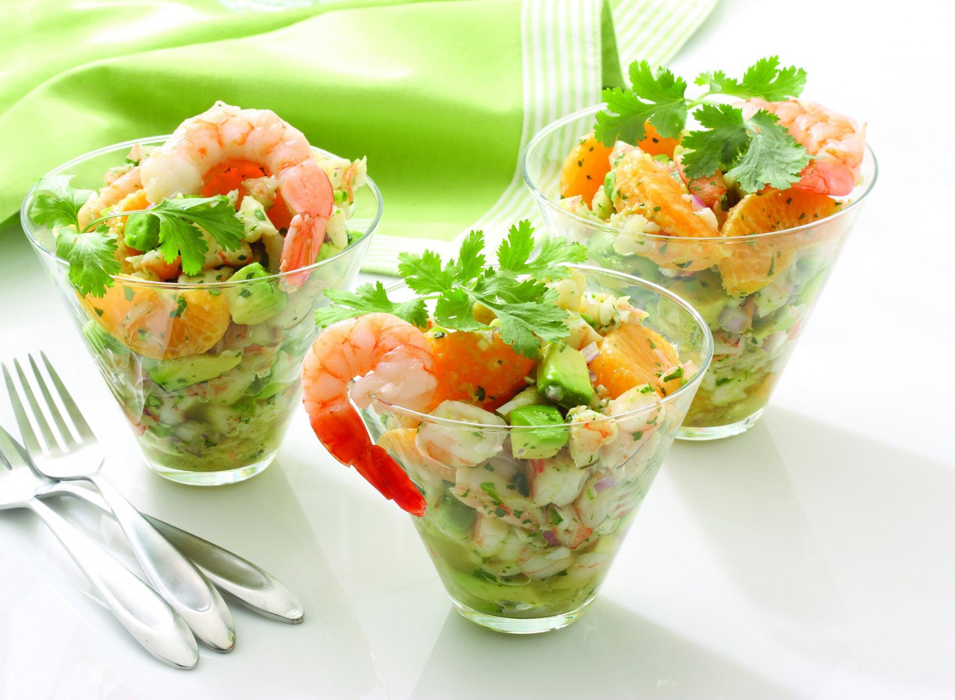 Порционные салаты
