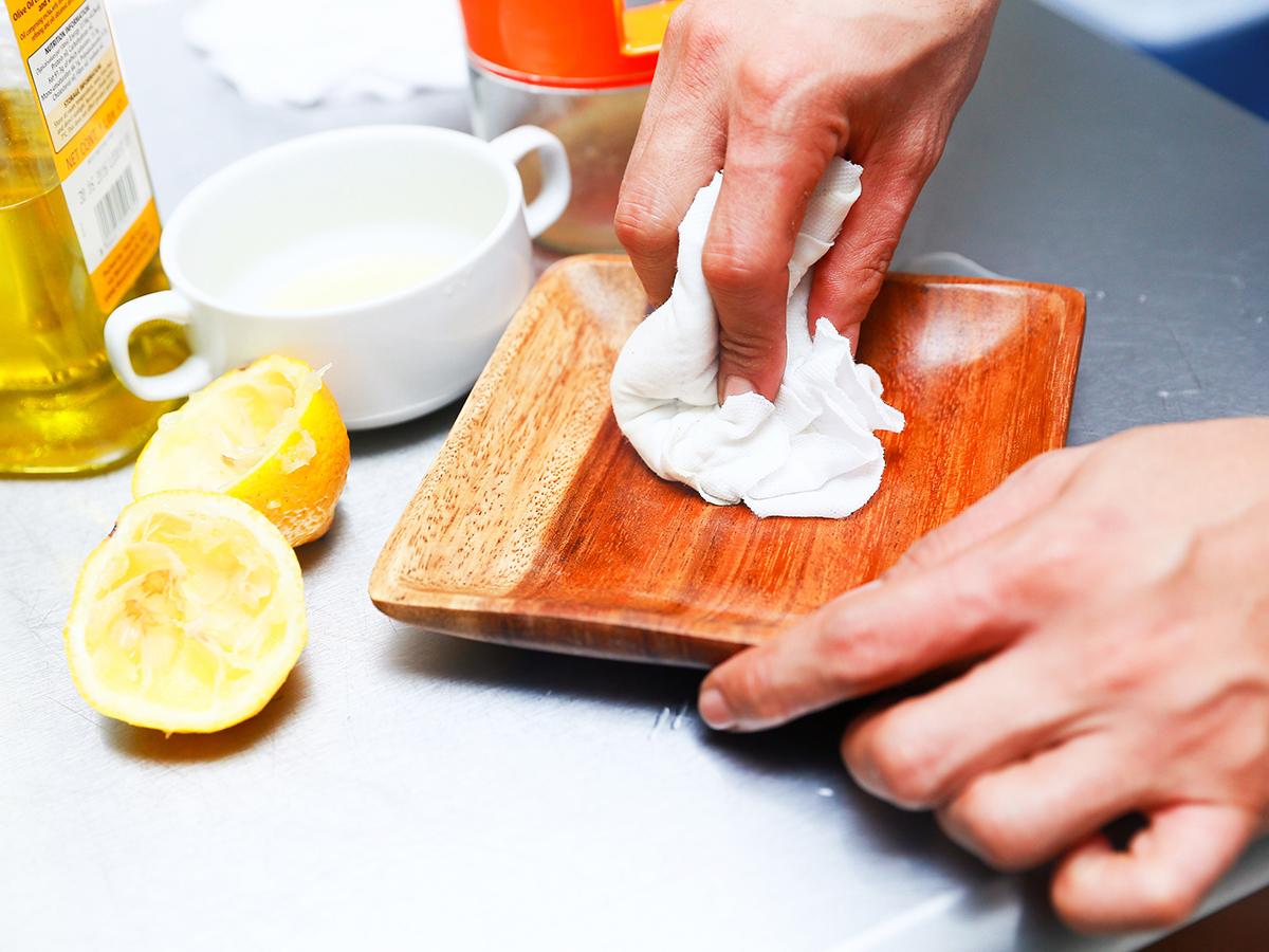Протирание тарелки