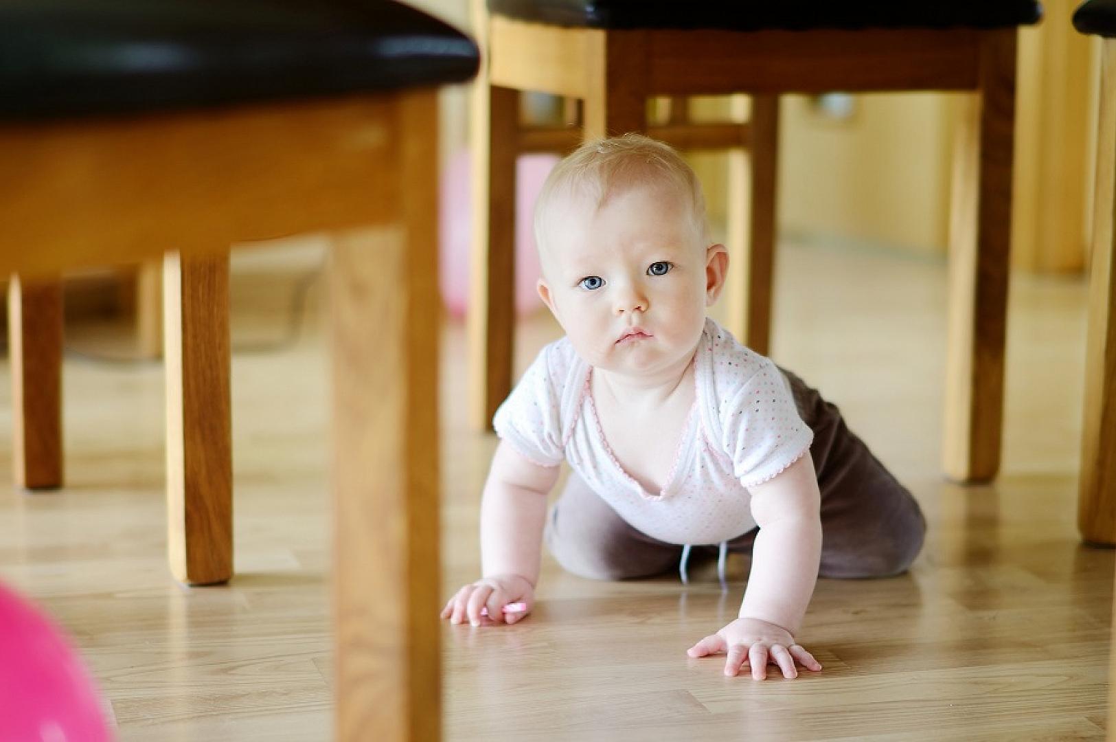 Фото ребенка на полу