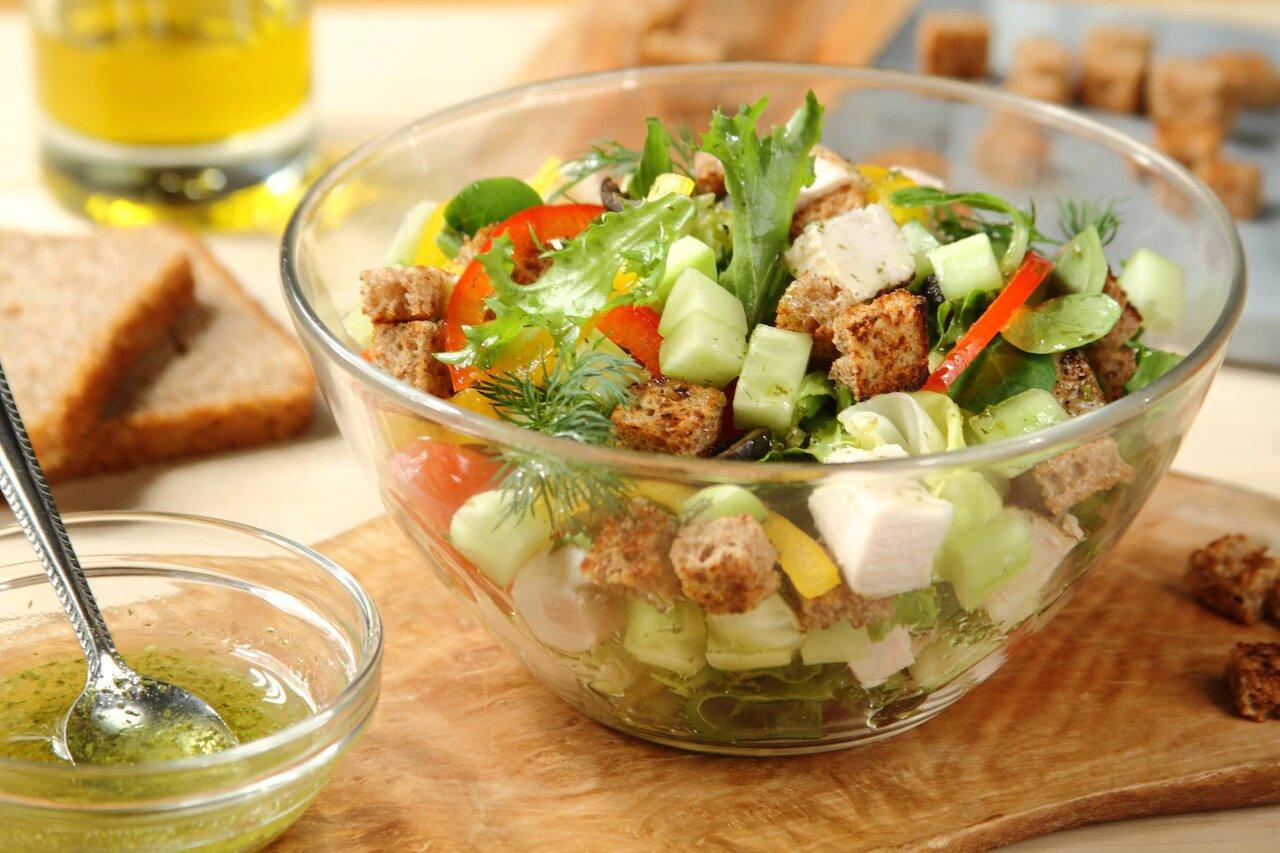 Фото салата в салатнике