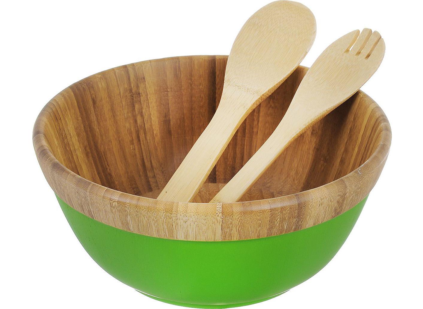 Салатница из бамбука