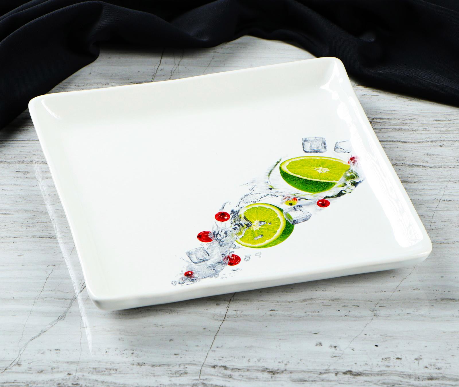 Фото тарелки с деколью