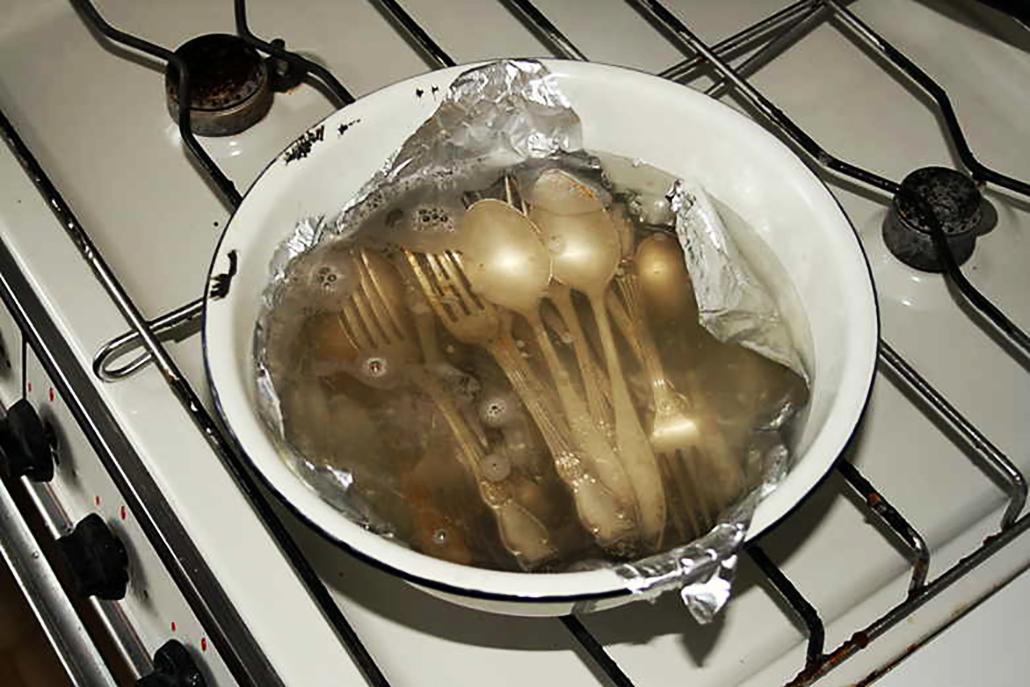 Приборы в картофельном отваре