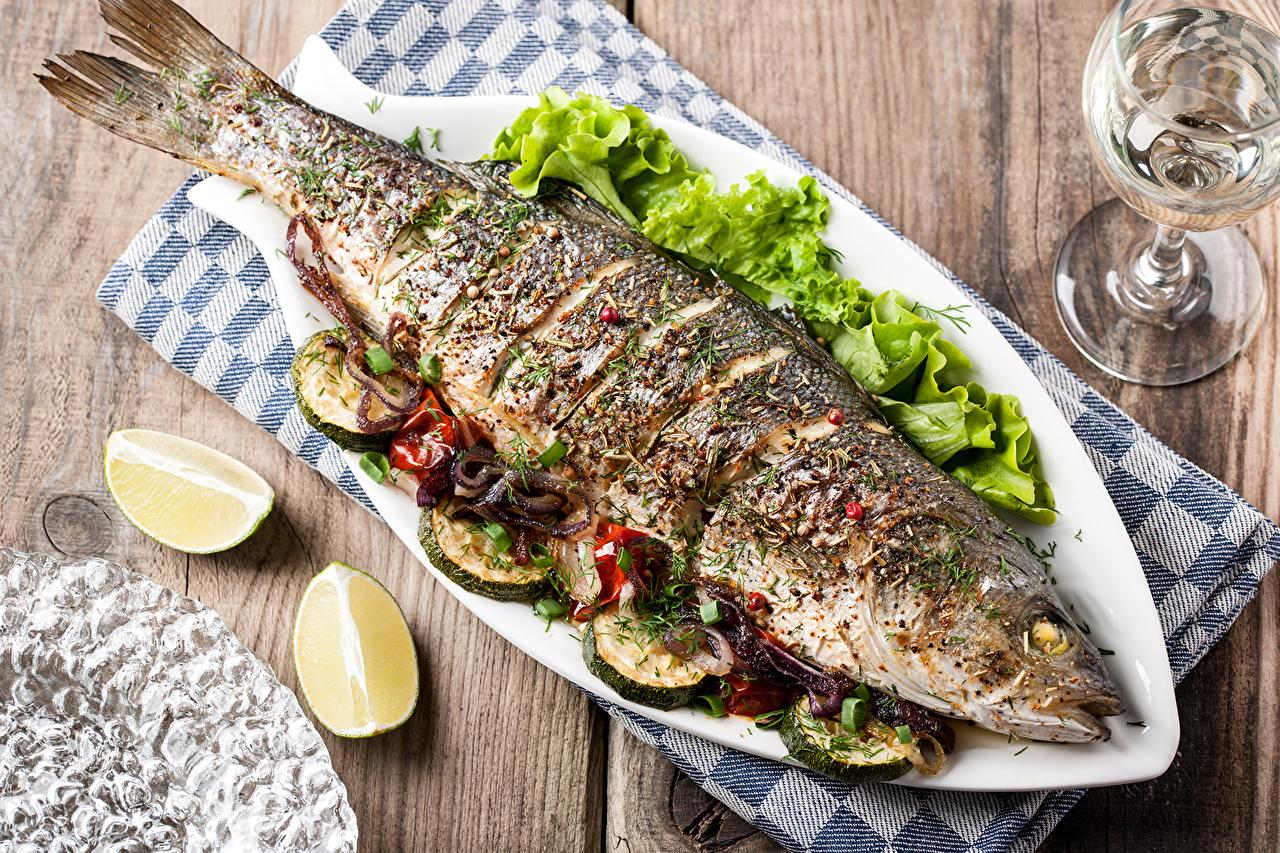 Фото тарелки с рыбой