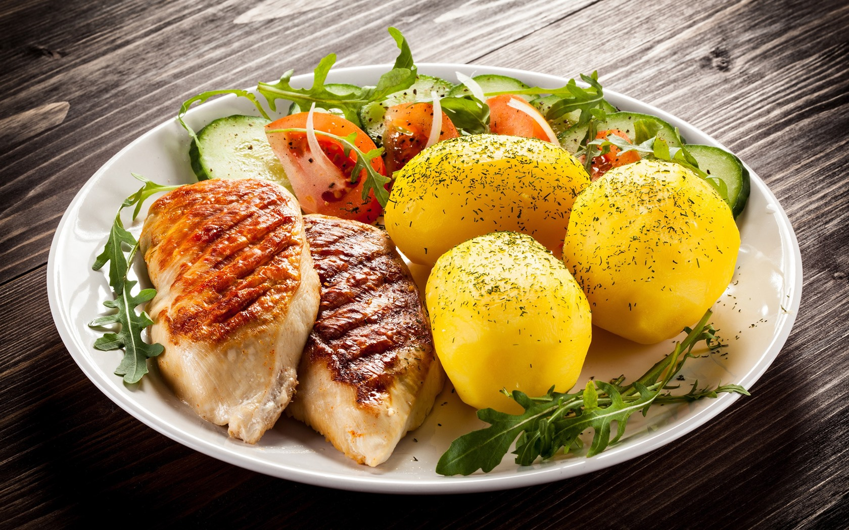 Тарелка со вторым блюдом