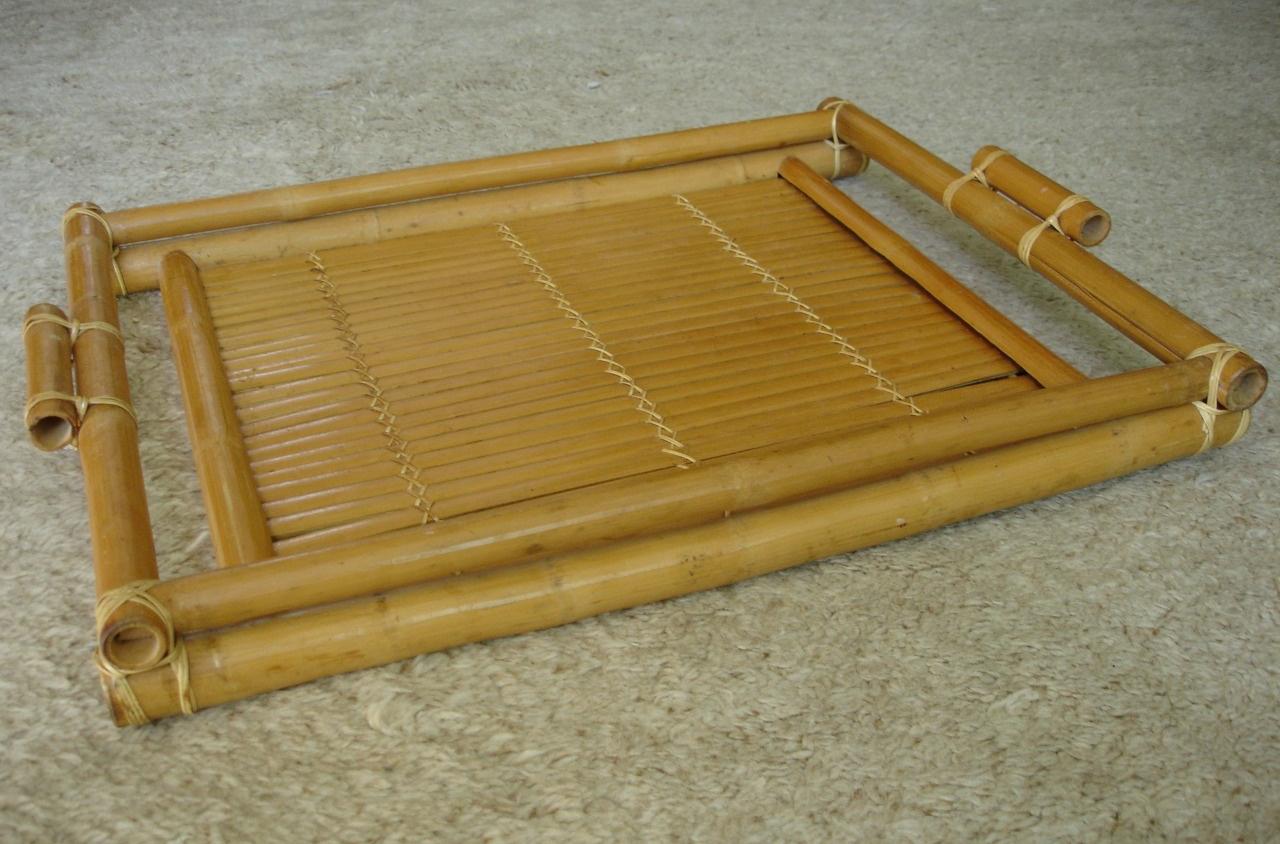Фото подноса из бамбука