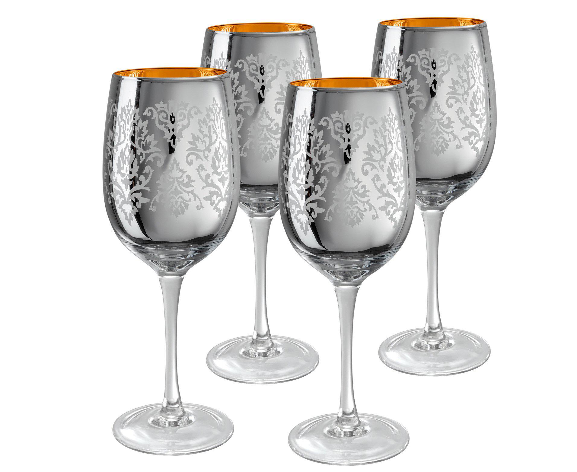 Фужеры из серебра для вина