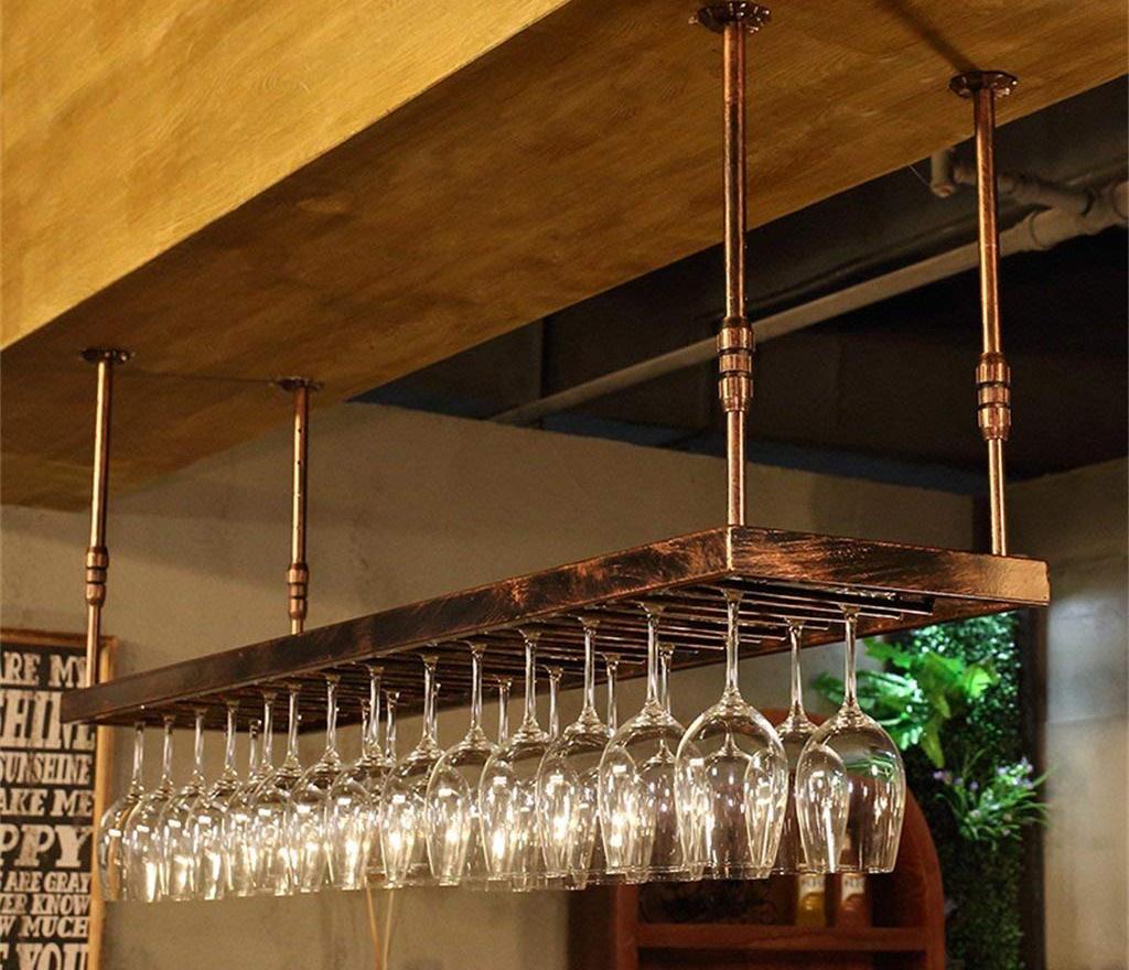 Полка для бокалов над барной стойкой