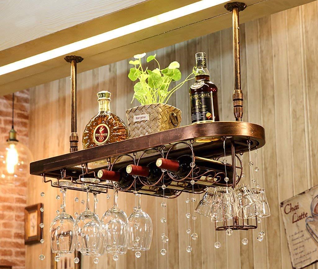 Полка для бокалов в баре