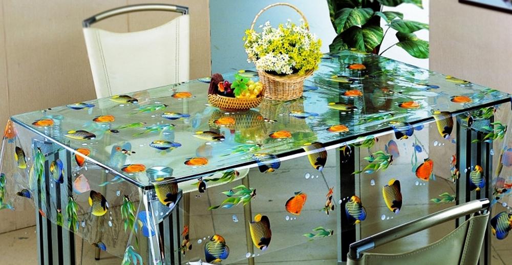Скатерть ПВХ на столе