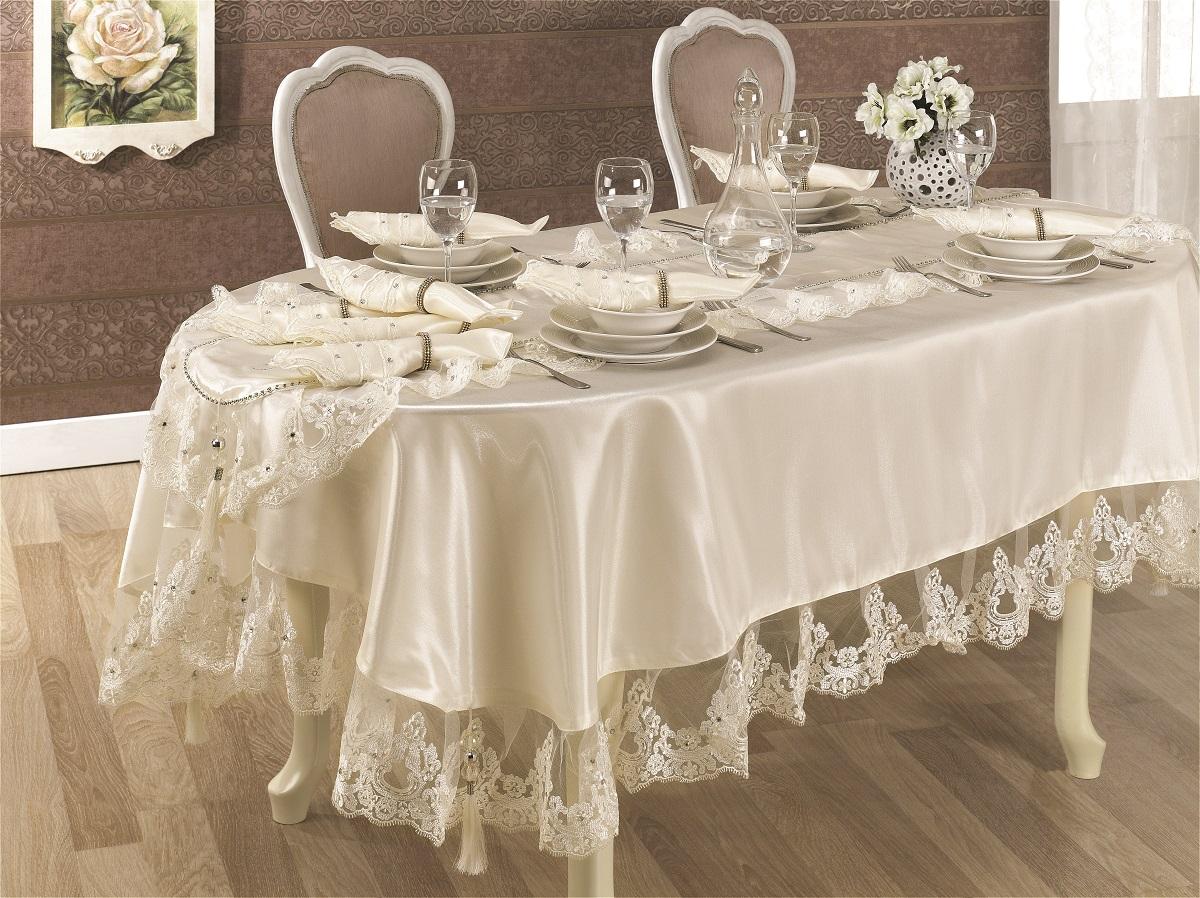 Праздничный стол со скатертью