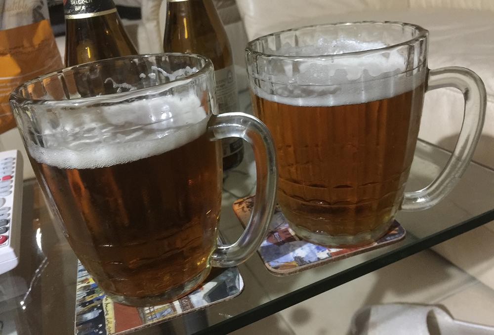 Советские бокалы с пивом