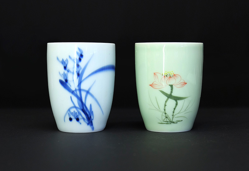 Фото стаканов из фарфора