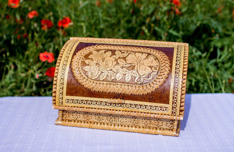 Фото хлебницы из бересты