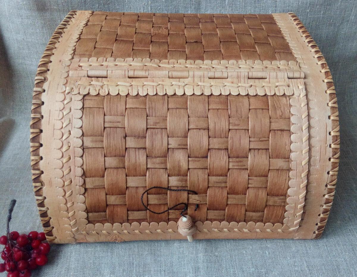 Плетенная хлебница