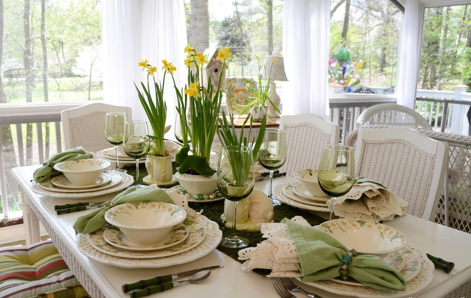 Фото сервировки стола к обеду