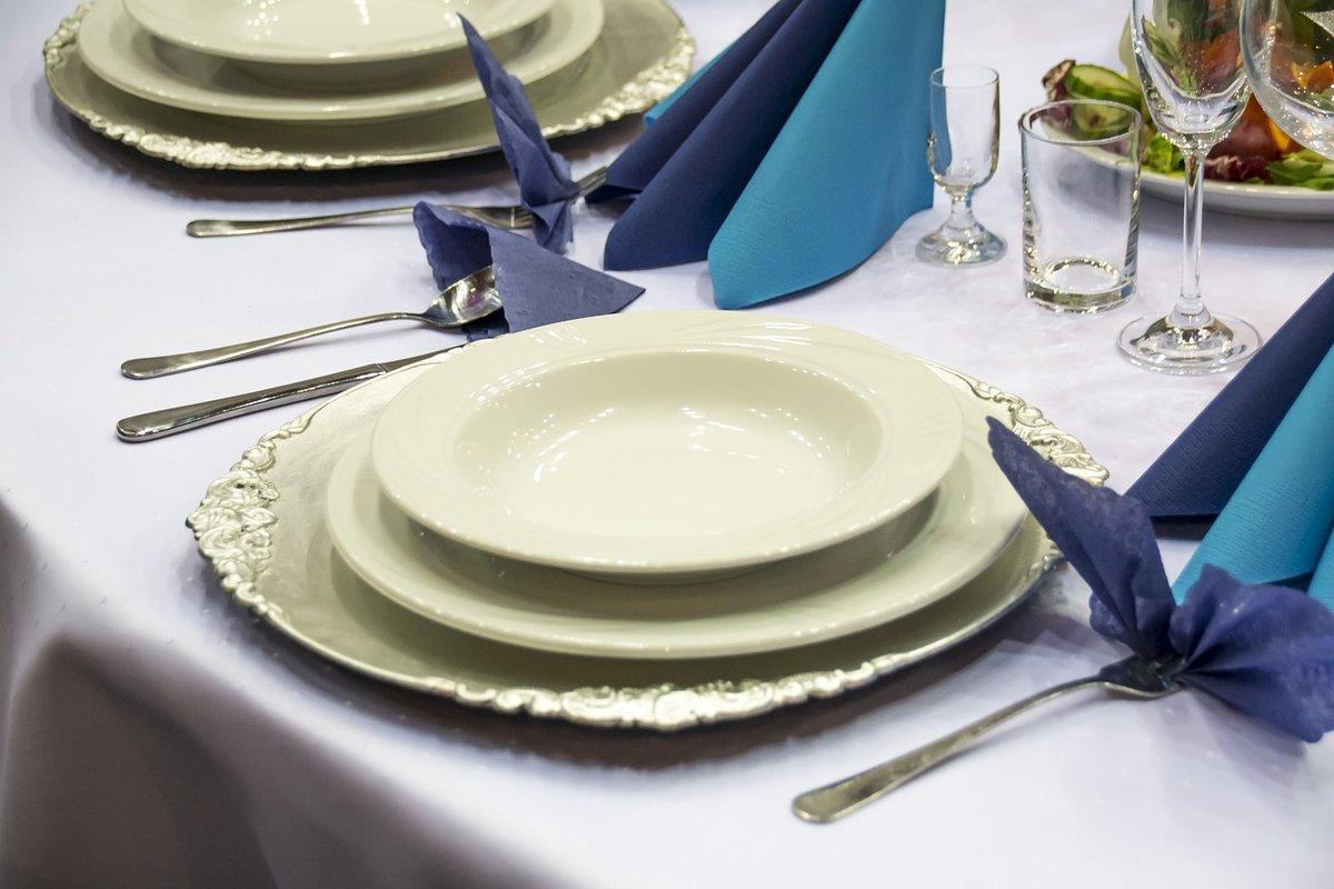 Фото сервировки тарелок