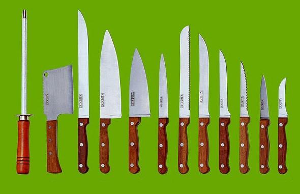 Основные виды кухонных ножей